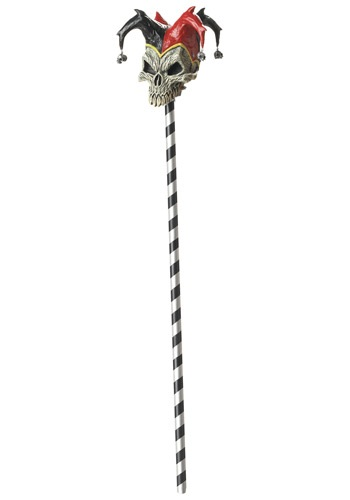 Jester Scary Skull Cane