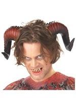 Satan Horns and Teeth