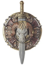 Barbarian Fighter Shield and Sword