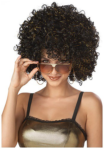 Gold and Black Disco Wig