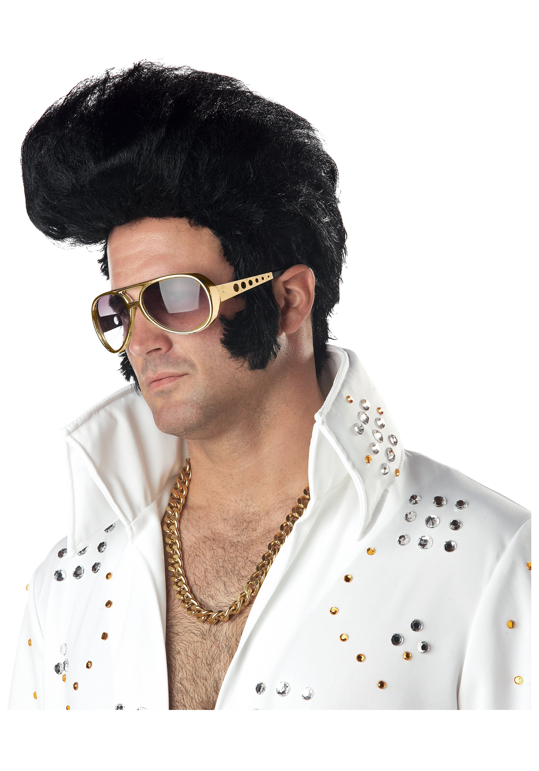 Elvis Wig  sc 1 st  Halloween Costume & Elvis Costumes - Adult Kids Elvis Presley Costume