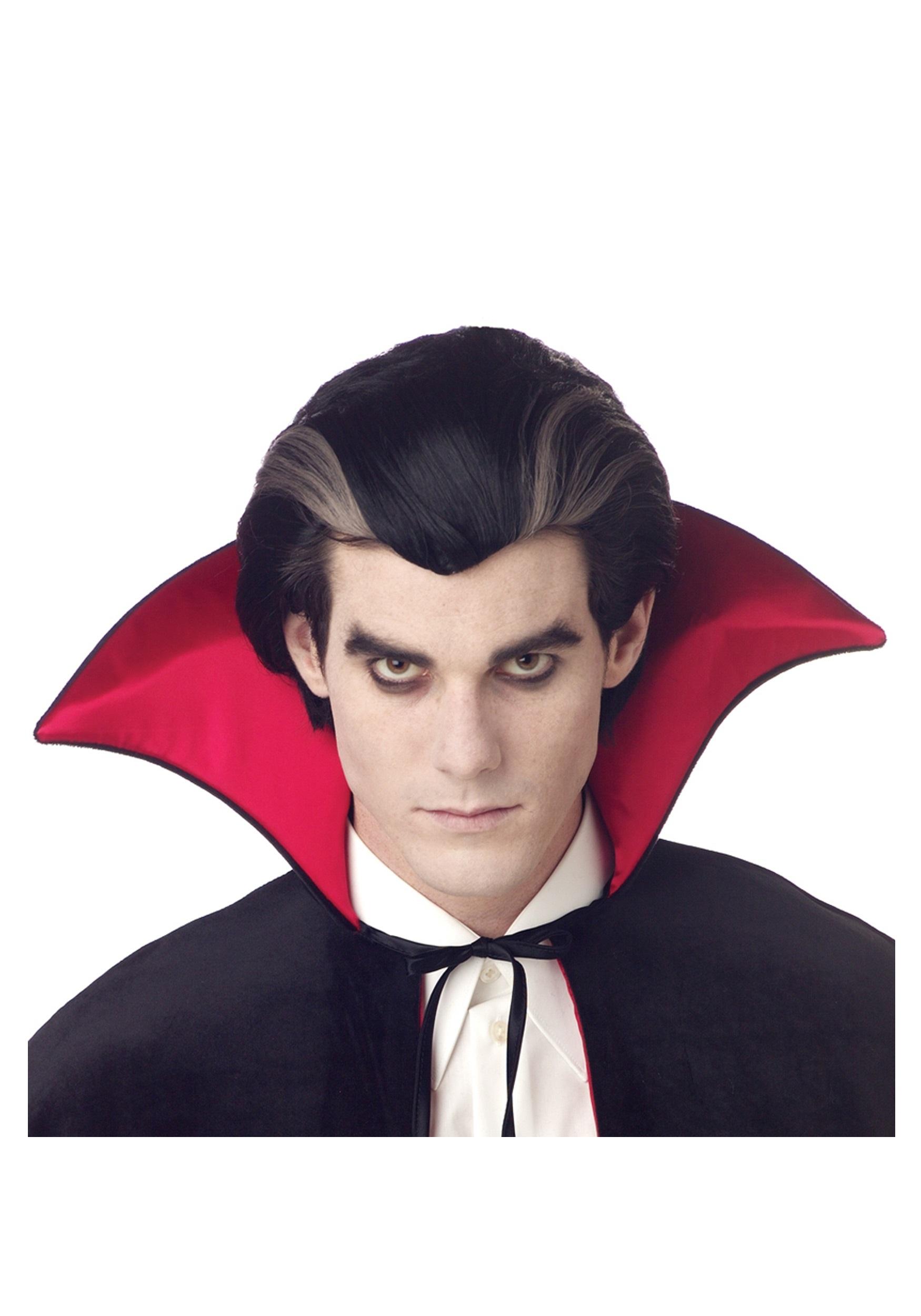 Men S Vampire Wig Mens Vampire Wigs And Costume Accessories