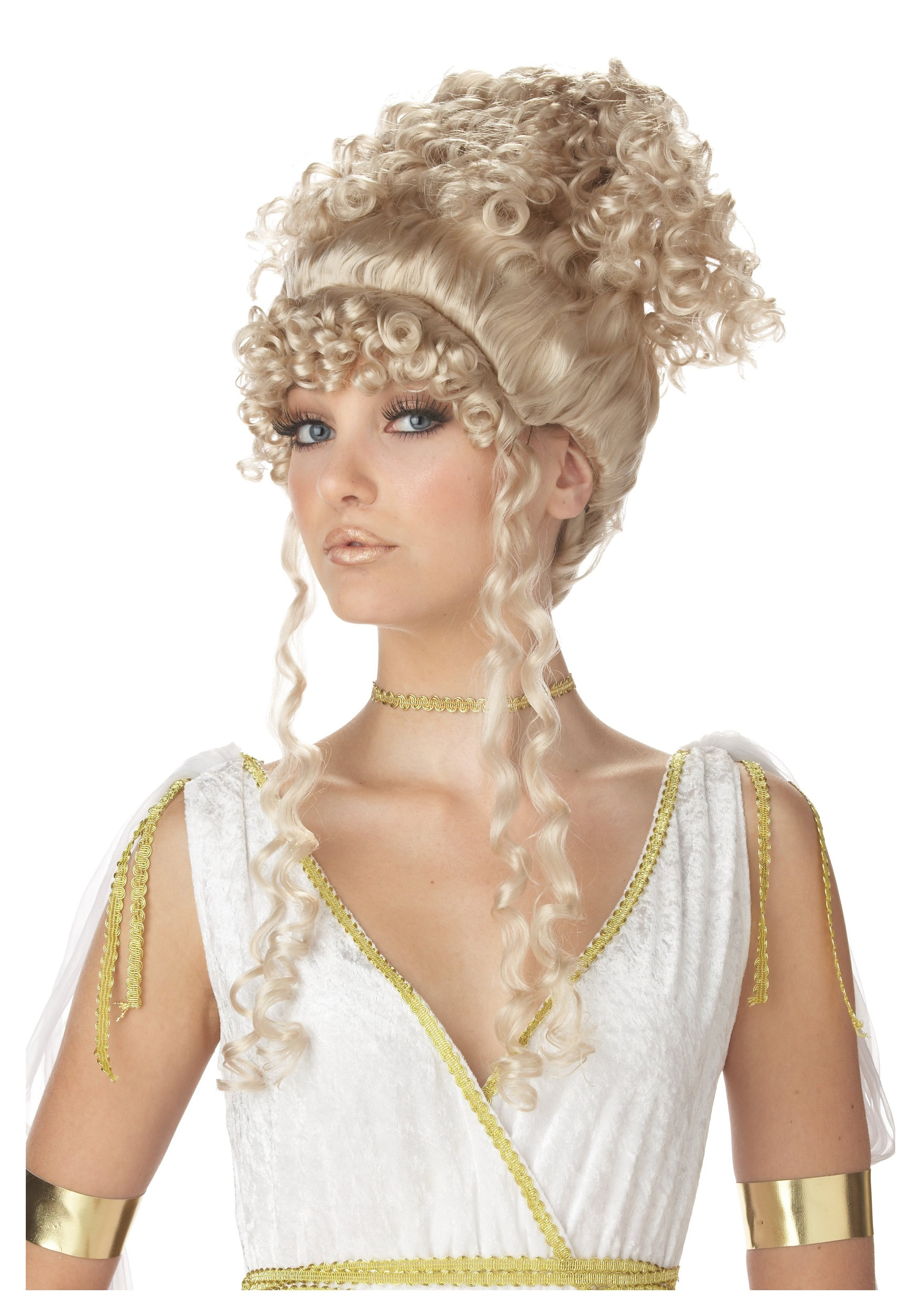 Curly Hair Costume Ideas : Goddess costume wig roman accessories
