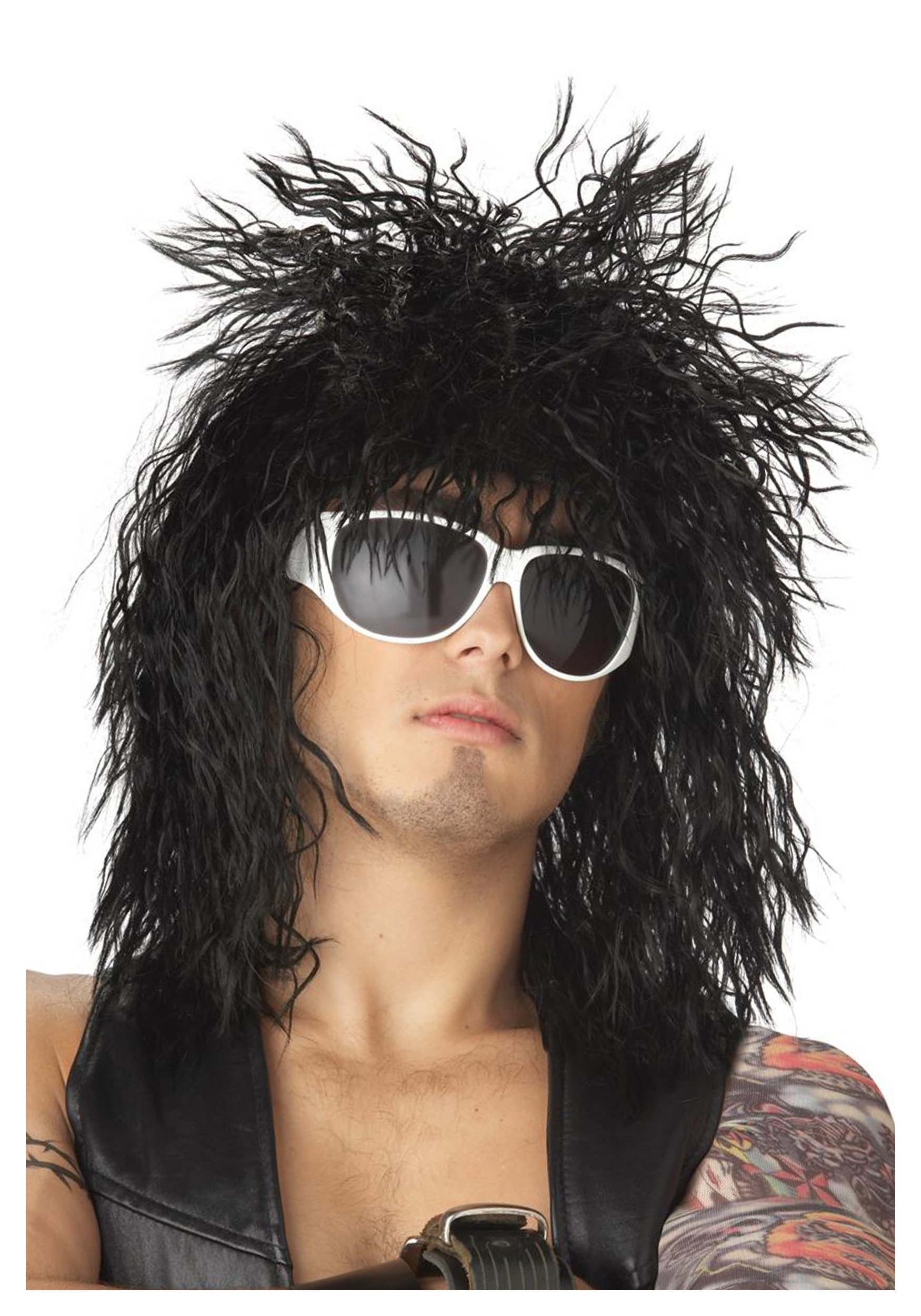 Black Hair Band Dude Wig  sc 1 st  Halloween Costume & Black Hair Band Dude Wig - Mens 70s 80s Halloween Costume Wigs