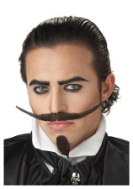Three Musketeer Mustache and Chin Patch
