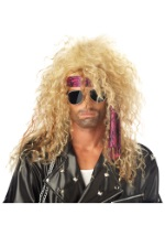 Blonde Heavy Metal Costume Wig