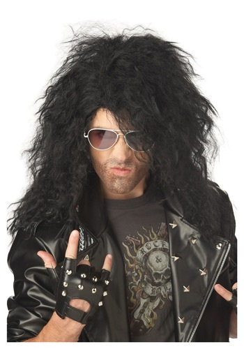 Black Heavy Metal Costume Wig
