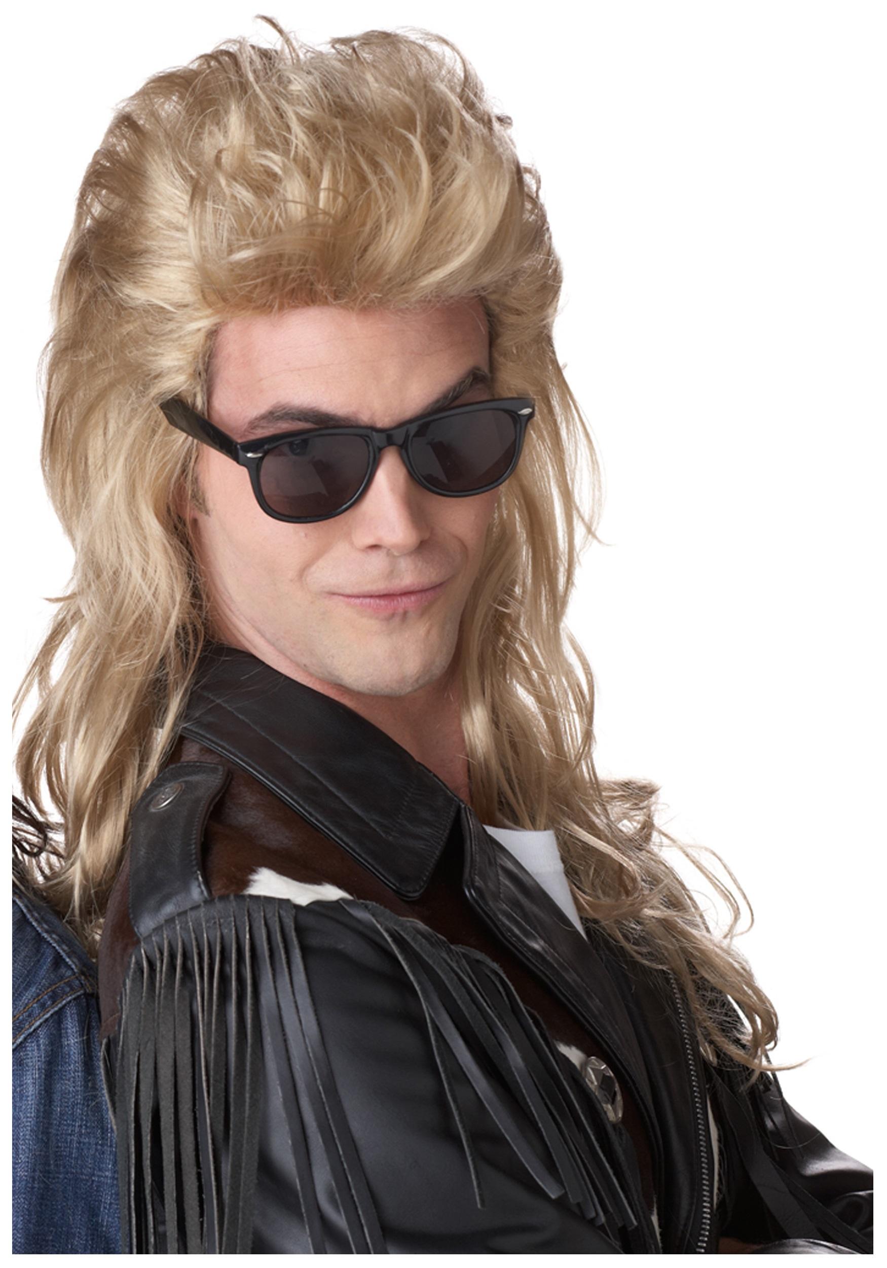 80s Blonde Rock Mullet Wig - 1980s Costume Accessories 020c3733b