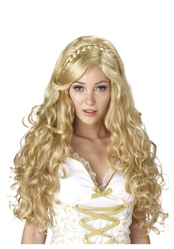 Flowing Blonde Goddess Wig