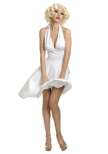 White Plus Size Marilyn Halter Dress