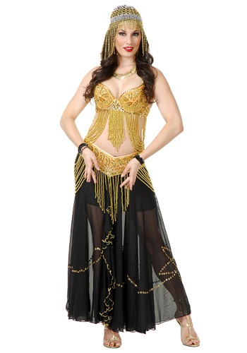 Sexy Gold Belly Dancer Costume