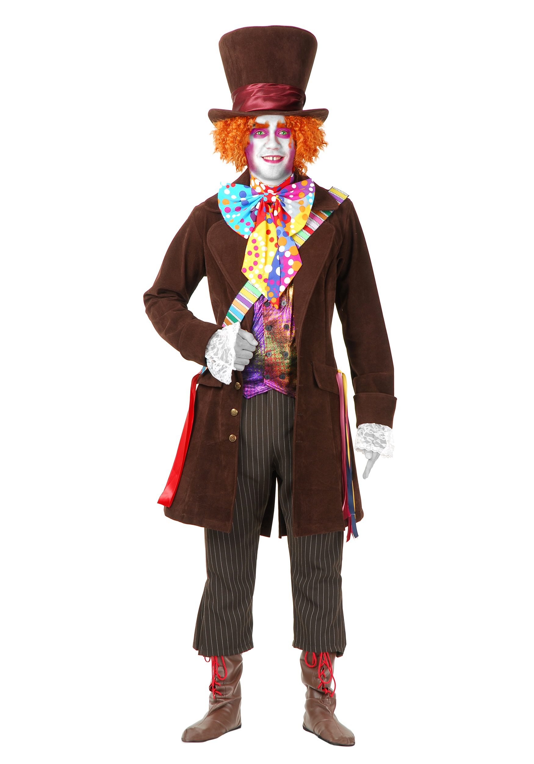 Hatter Deluxe Plus Costume - Tim Burton Mad Hatter Costumes  Mad