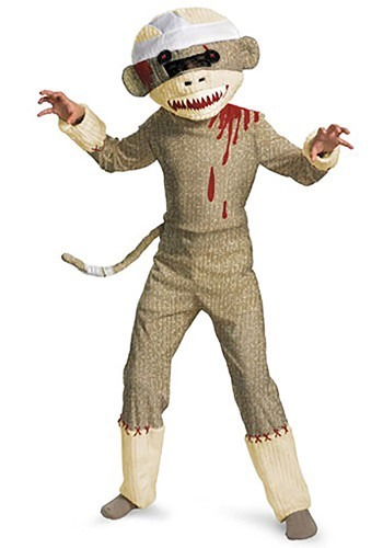 Kids Sock Monkey Zombie Costume