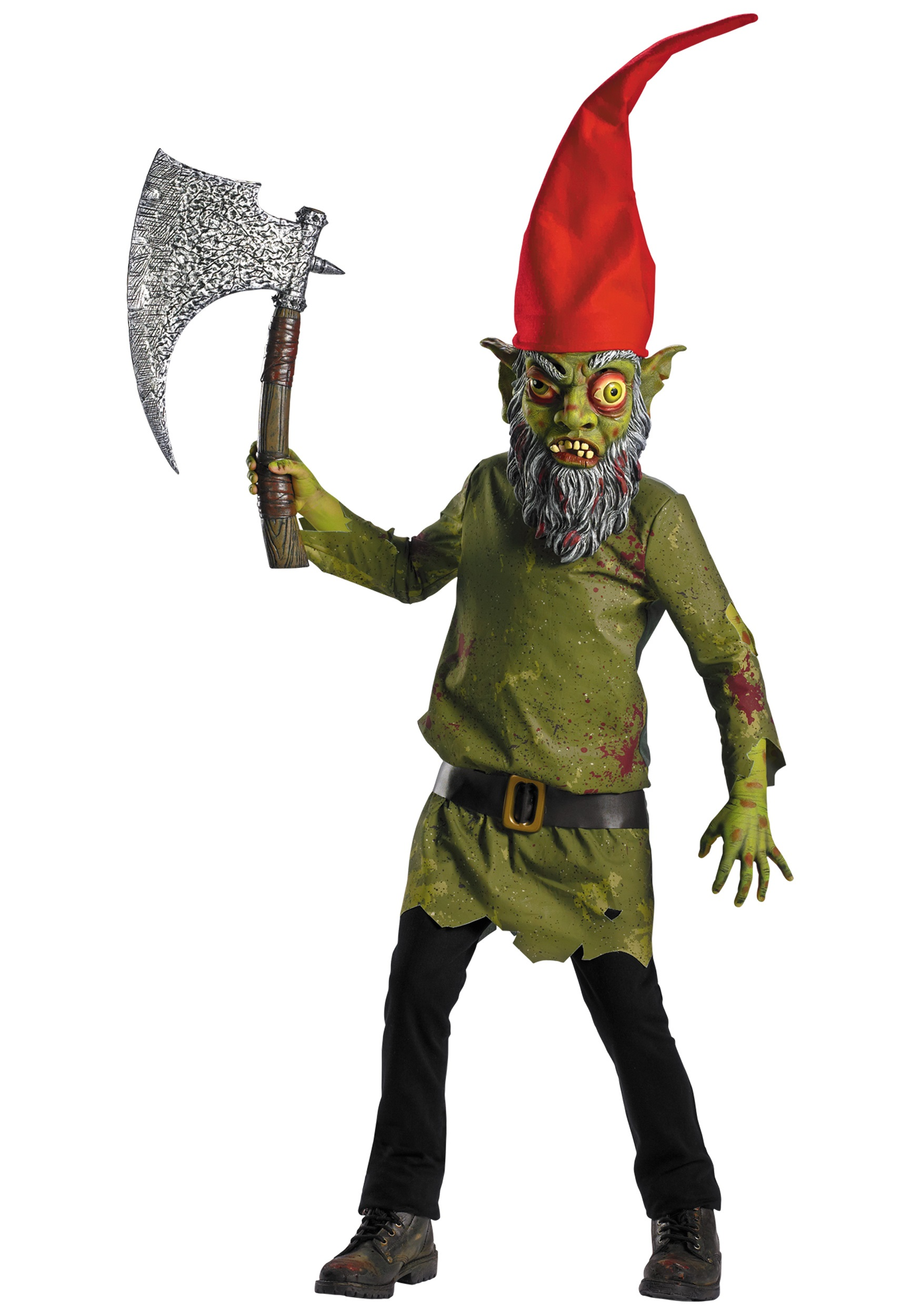 Halloween Costumes For Kids Scary.Evil Garden Gnome Costume