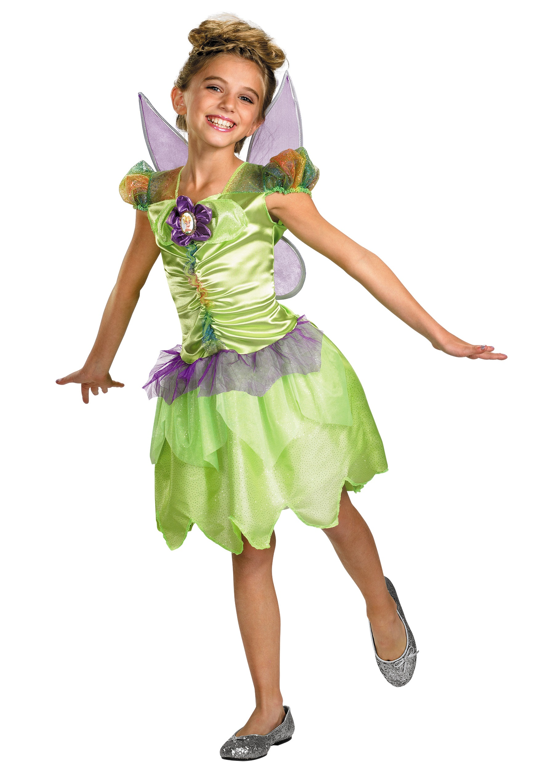 Girls Tinkerbell Fairy Costume  sc 1 st  Halloween Costume & Girls Tinkerbell Fairy Costume - Kids Fairy Costumes