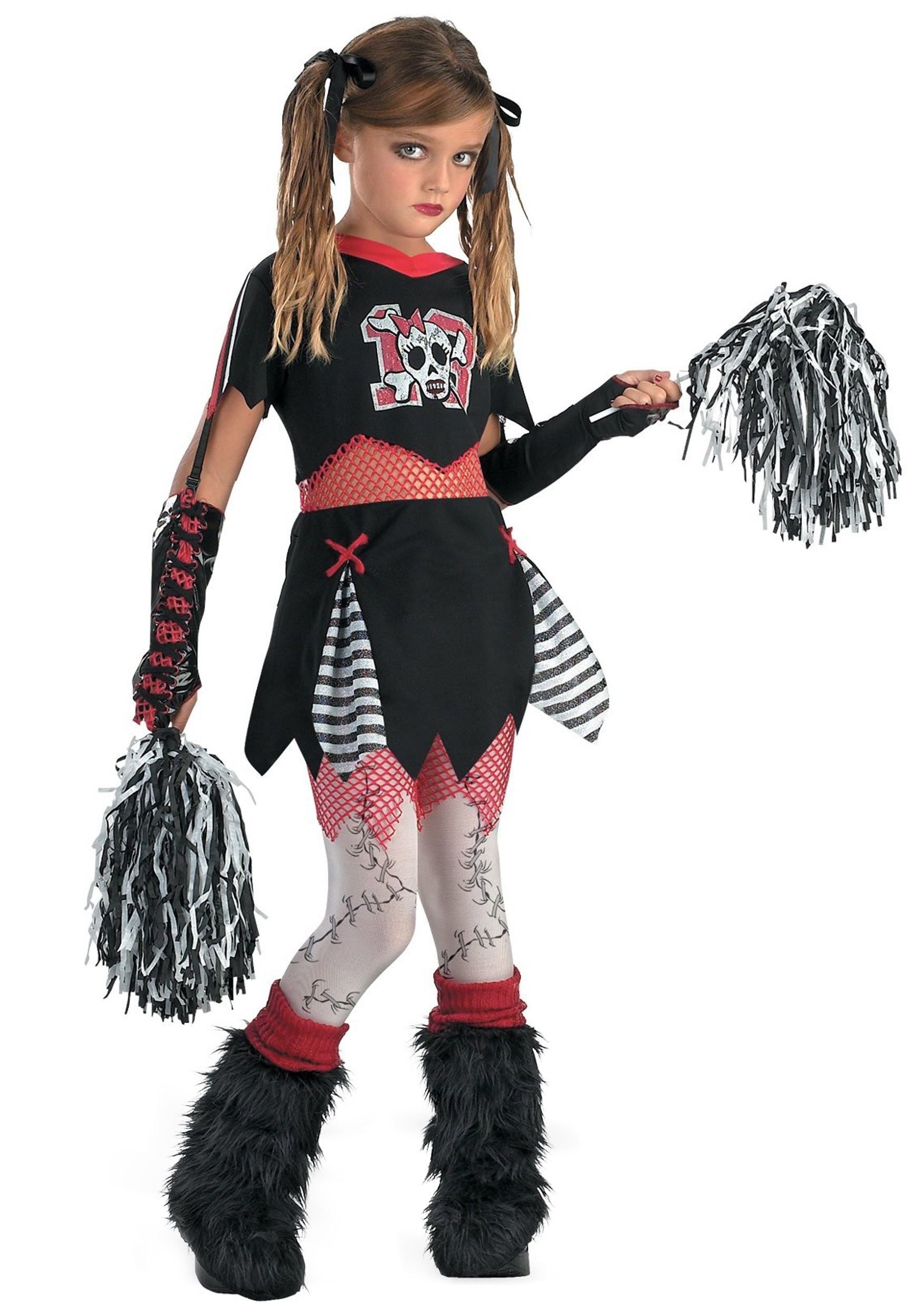 Child Gothic Cheerleader Costume  sc 1 st  Halloween Costume & Child Gothic Cheerleader Costume - Girls Scary Halloween Costumes