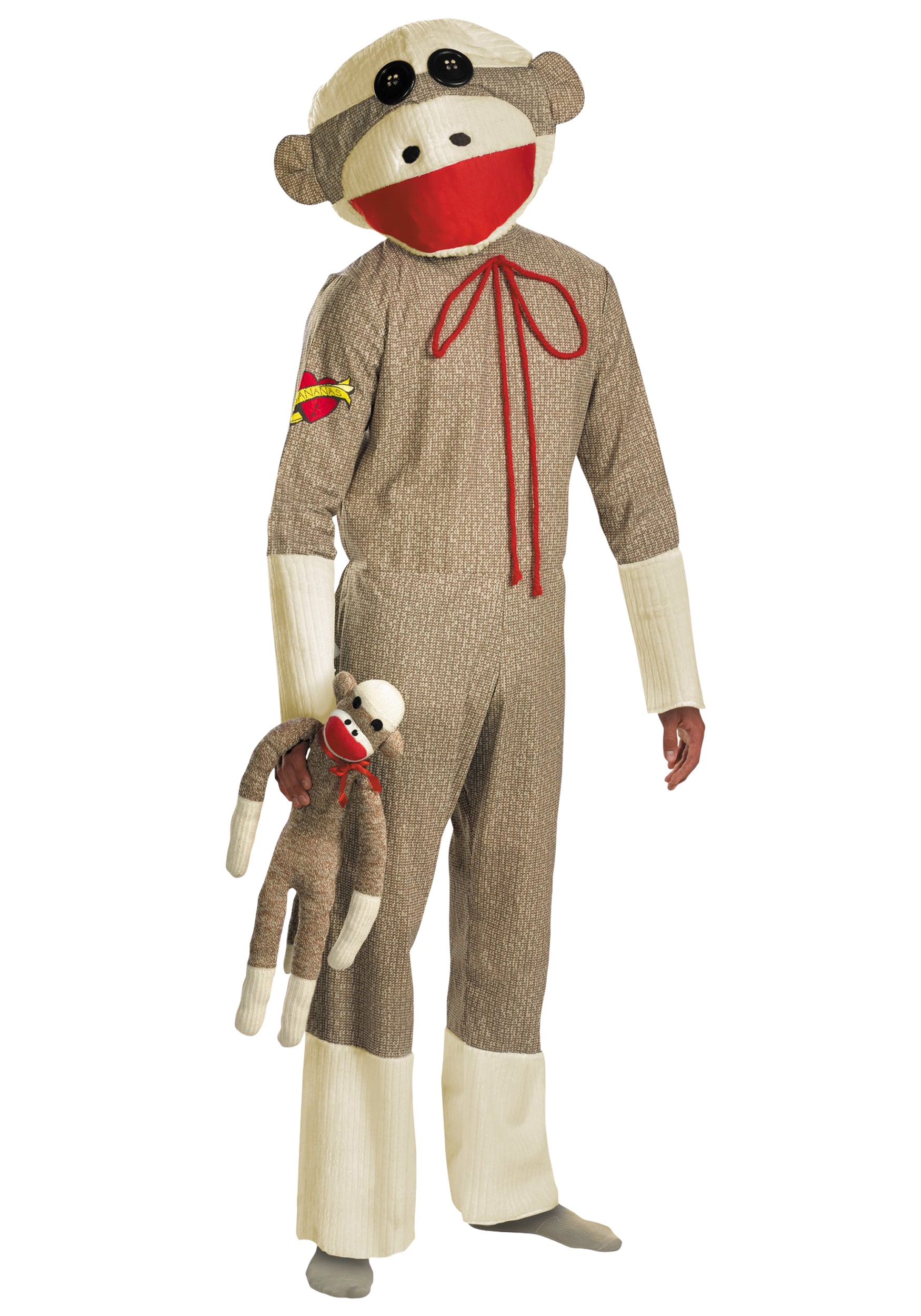 Giant Sock Monkey Costume  sc 1 st  Halloween Costume & Giant Sock Monkey Costume - Funny Adult Stuffed Animal Costumes