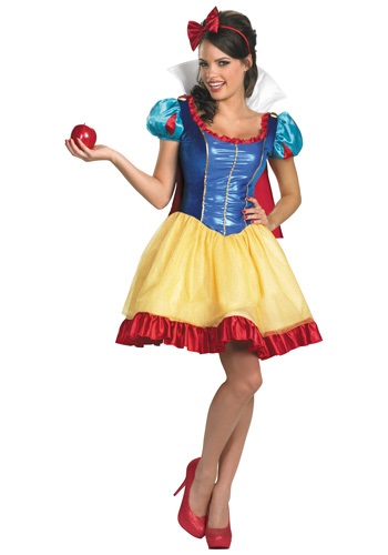 Womens Deluxe Saucy Snow White Costume