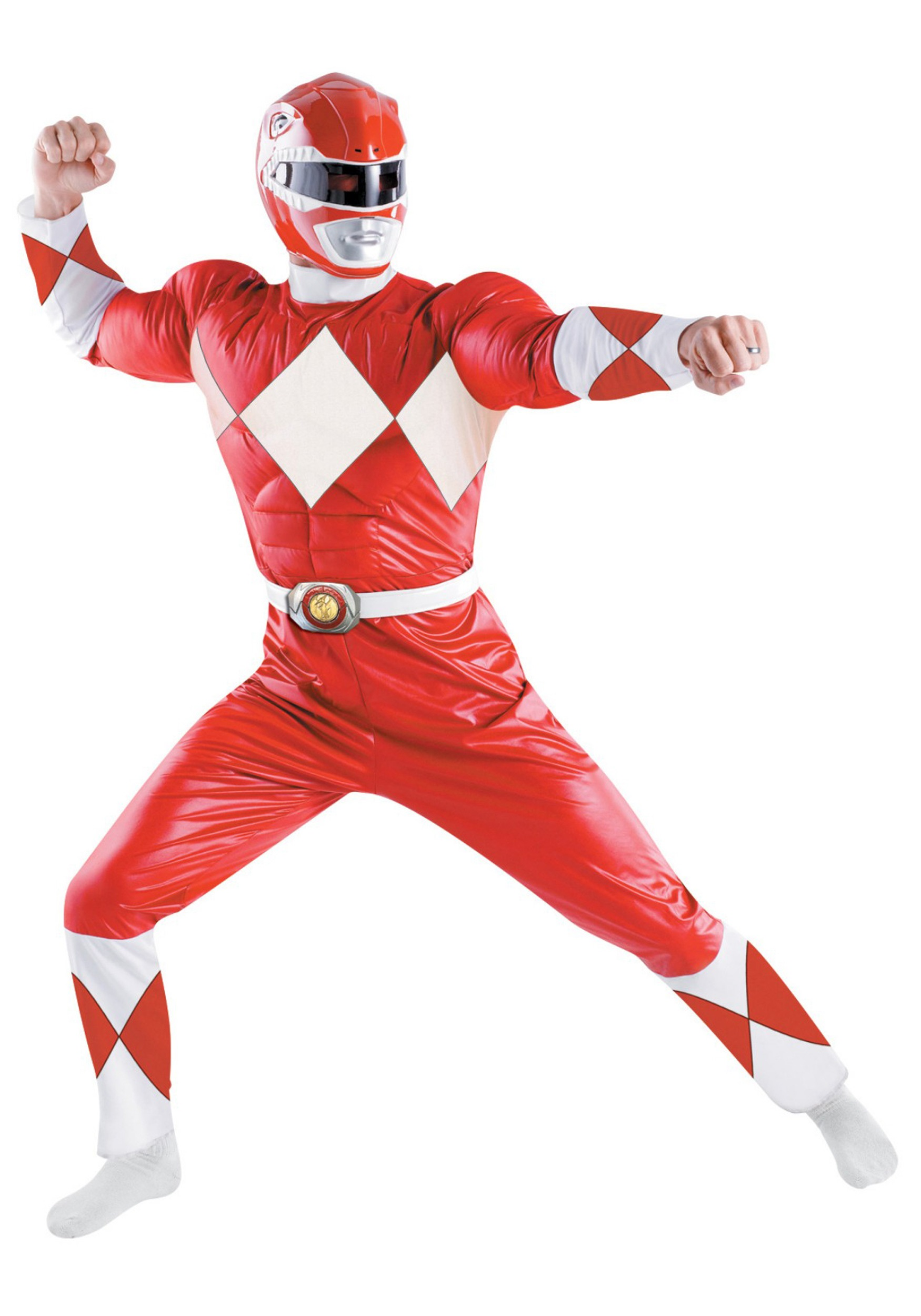 Red Power Ranger Costume - Adult Power Ranger Costumes