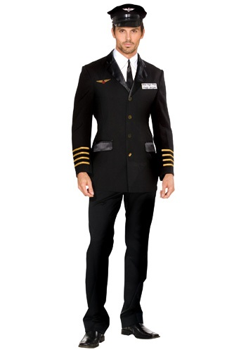 Mens Mile High Airline Pilot Costume