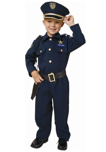 Deluxe Toddler Police Costume