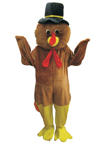 Pilgrim Turkey Mascot Costume