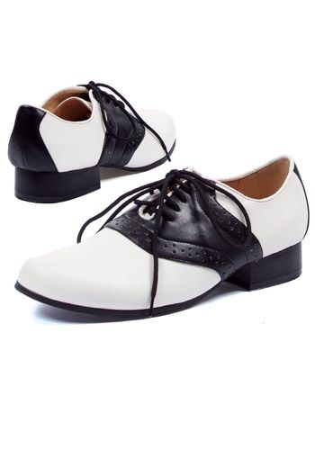 Black and White Ladies Saddle Shoes