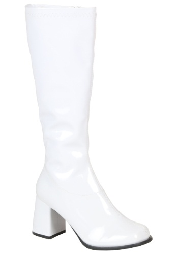 Classic White 70s Boots