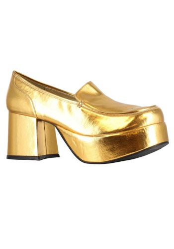 Gold Mac Daddy Pimp Shoes