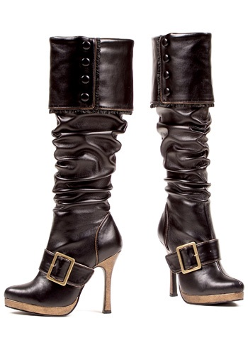 Sexy Buckle Pirate Captain Boots