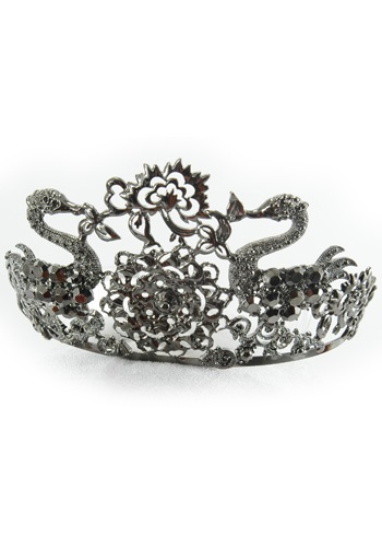Ladies Black Jeweled Tiara