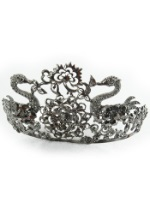 Ladies Black Jeweled Tiara