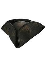 Black Tricorn Pirate Hat