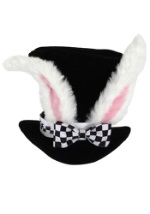 Adult White Rabbit Top Hat