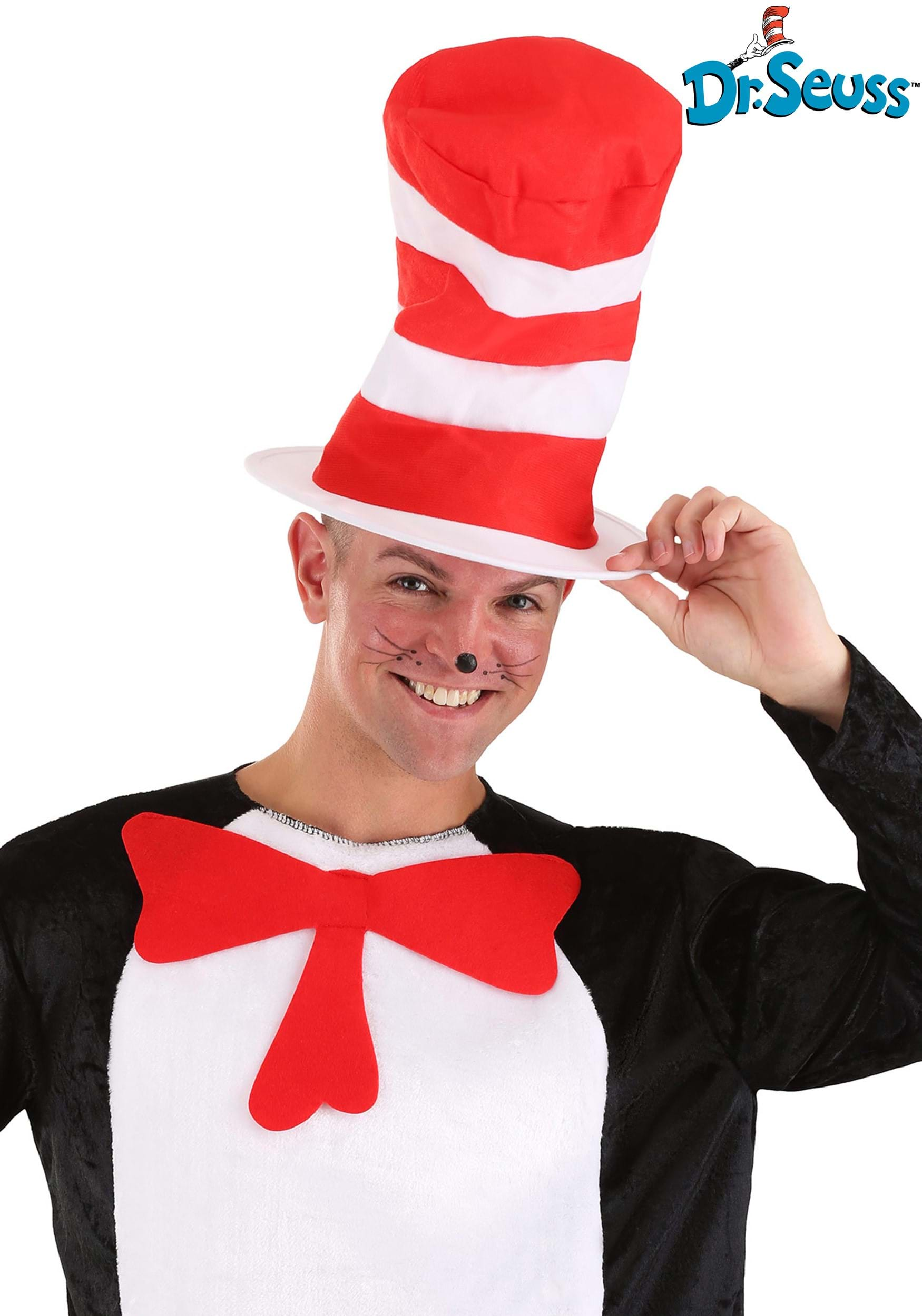 552cbd80 Cat in the Hat Adult Striped Hat - Economy Dr Seuss Hat