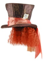 Mad Hatter Costume Hat w/Hair