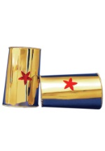Red Star Gold Wrist Cuffs