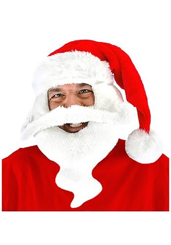 Plush Santa Hat with Beard