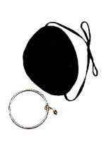 Satin Pirate Eye Patch w/Earring