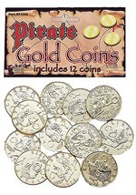 Gold Pirate Booty Coins