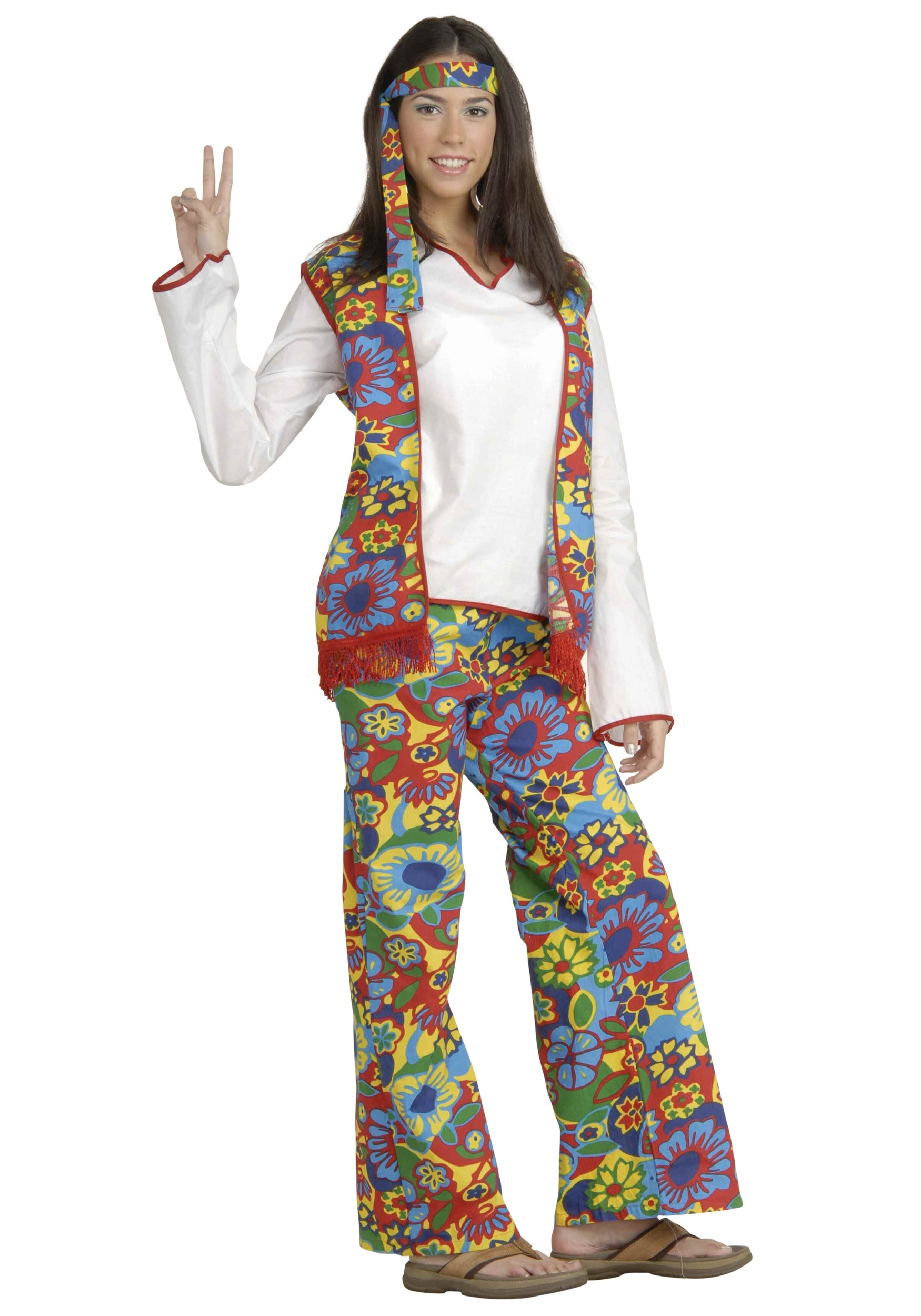 60s Hippie Chick Costume - Womens 60s Hippie Halloween ...