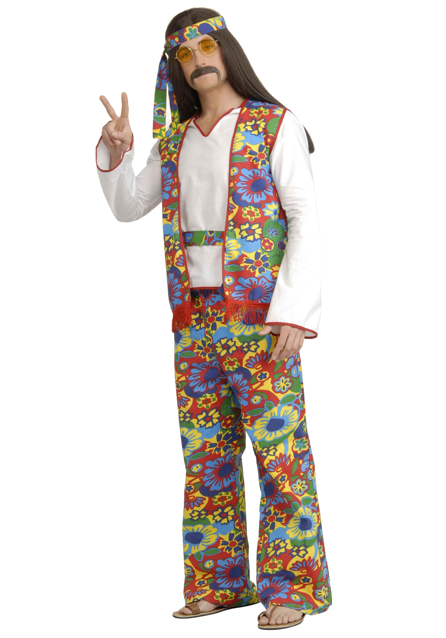 Mens Hippie Costume  Mens 60s and 70s Hippie Halloween Costumes