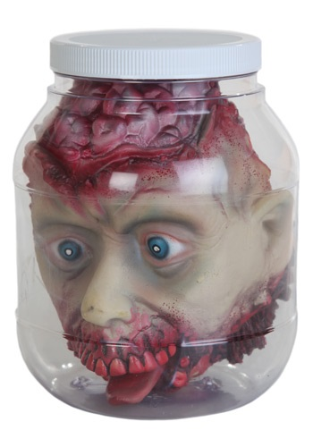 Human Head in Specimen Jar