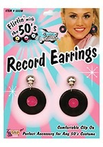 Fifties Record Earrings