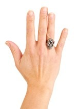 Pirate Silver Skull Ring