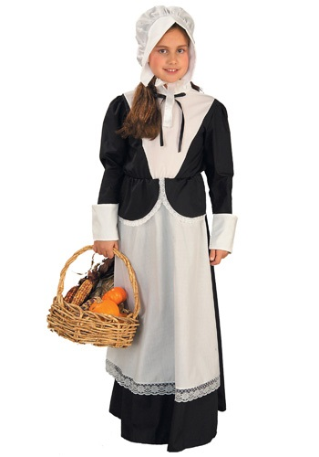 Colonial Girls Pilgrim Costume