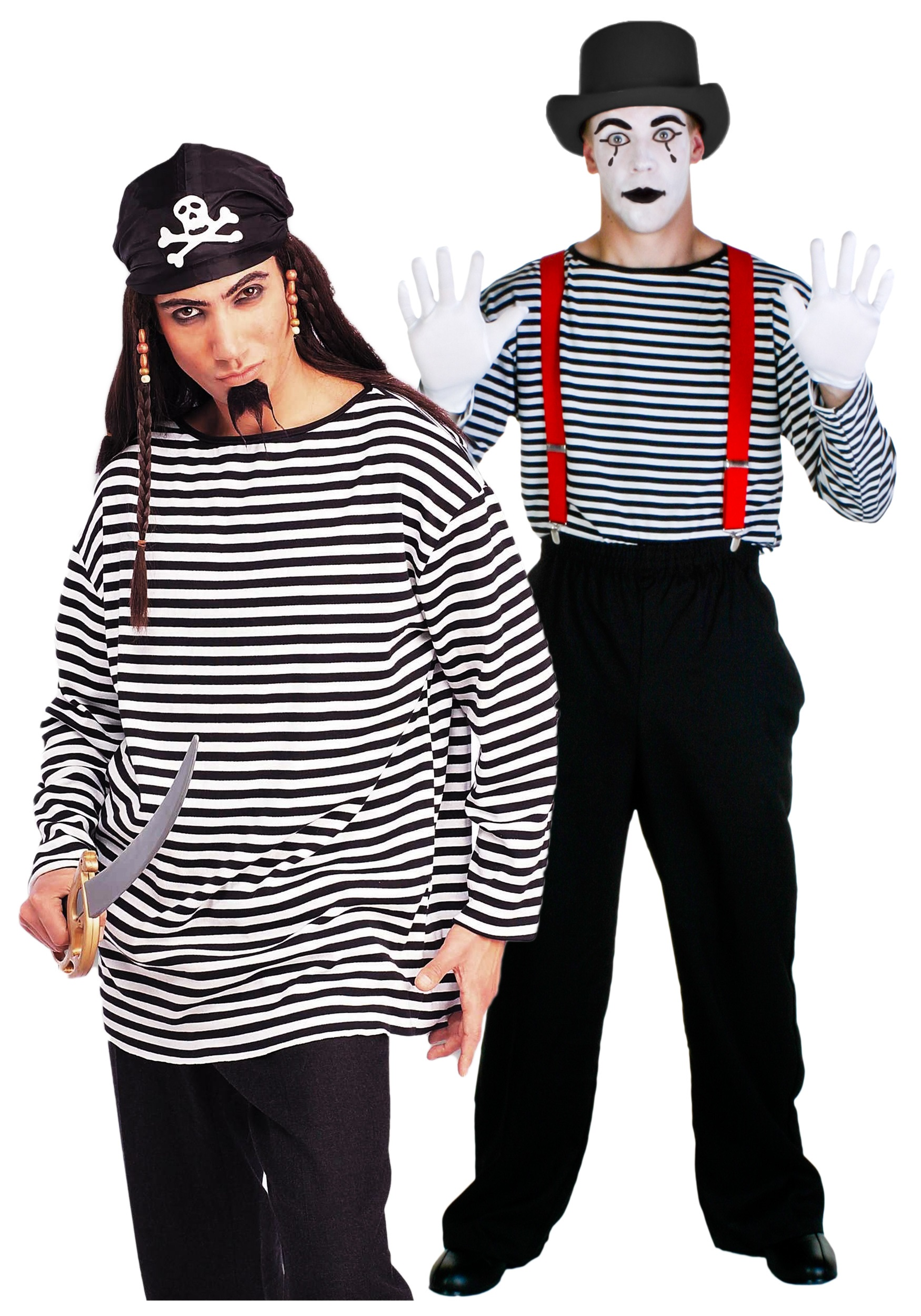 Adult Striped Costume Shirt  sc 1 st  Halloween Costume & Adult Striped Costume Shirt - Adult Mime Halloween Costume Ideas