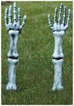 Reaching Skeleton Arms Lawn Stakes