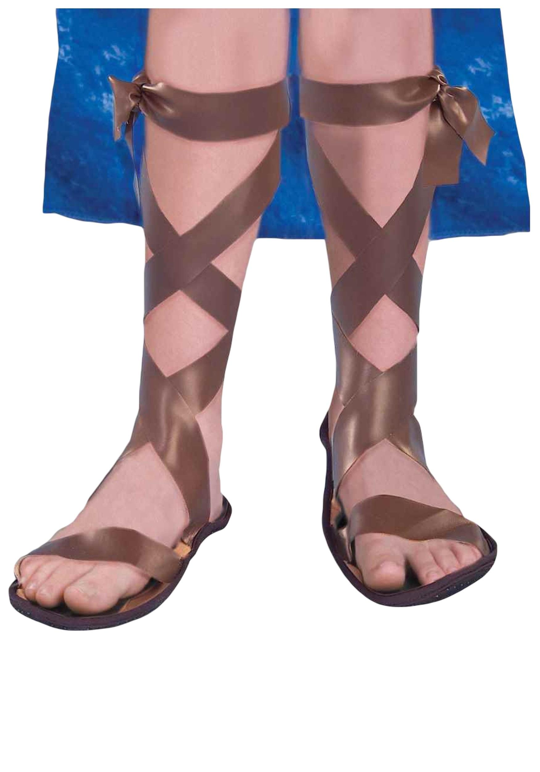 ancient roman child sandals kids greek or roman costume shoes