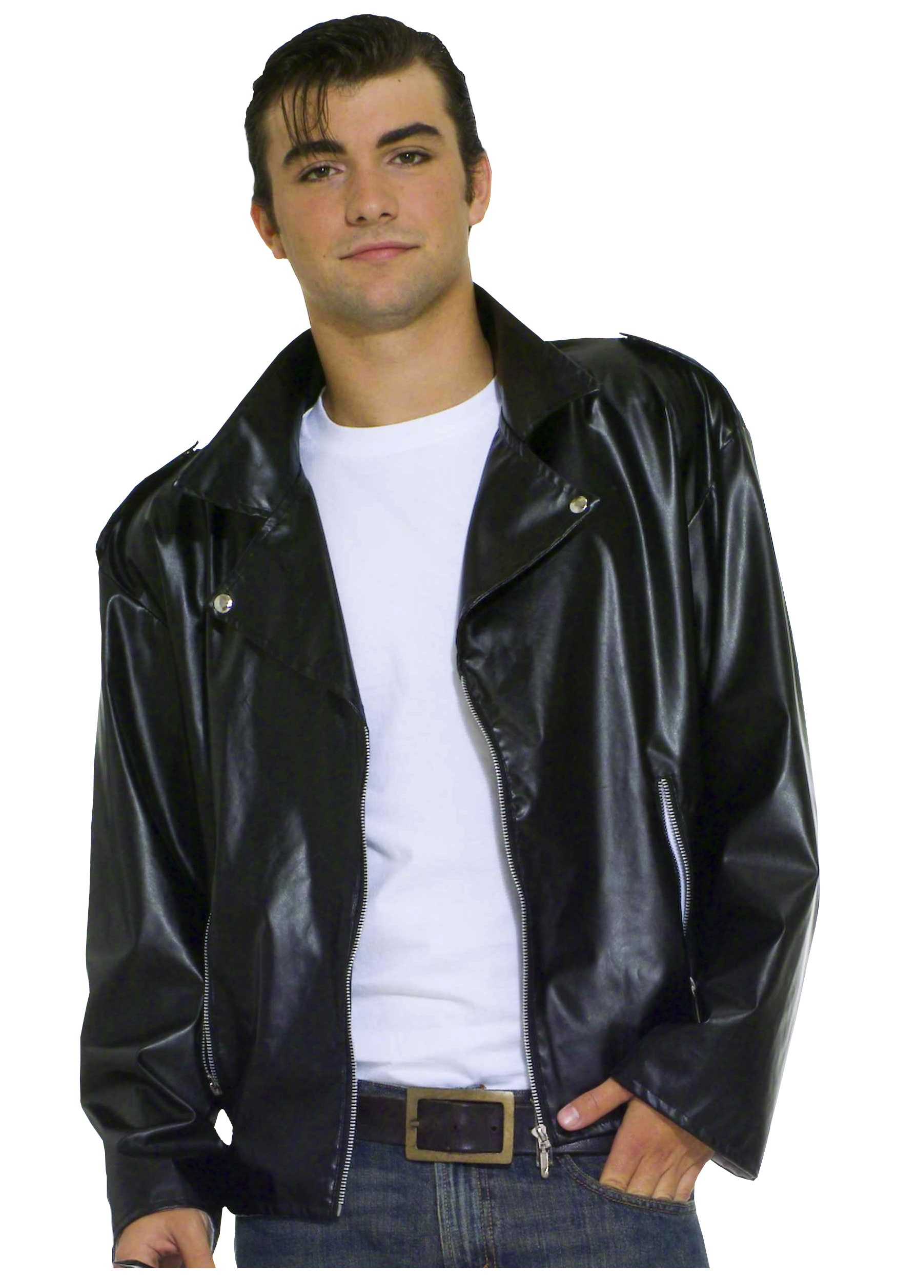 Greaser Plus Size Costume Jacket  sc 1 st  Halloween Costume & Greaser Plus Size Costume Jacket - Mens Fifties Grease Costumes